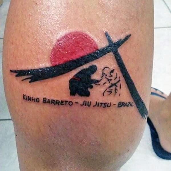 tatuagem jiu jitsu desenho na perna