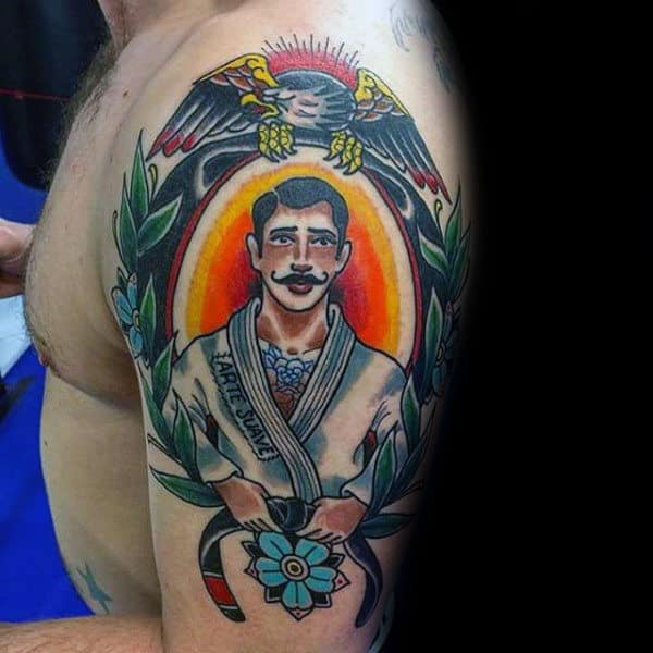 tatuagem jiu jitsu no braço