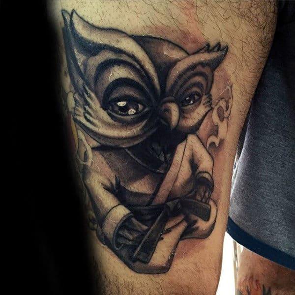 tatuagem jiu jitsu perna