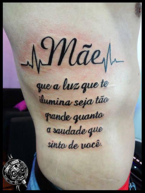 tatuagem mãe na costela frase
