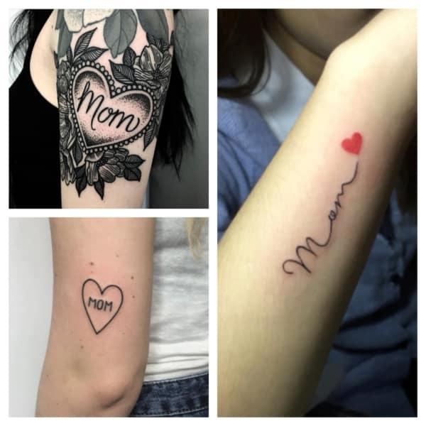 tatuagem para mãe com coração