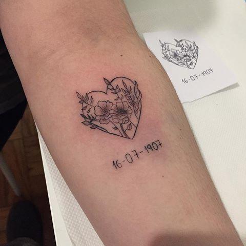 tatuagem para mãe falecida com data