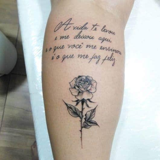 tatuagem para mãe falecida com frase