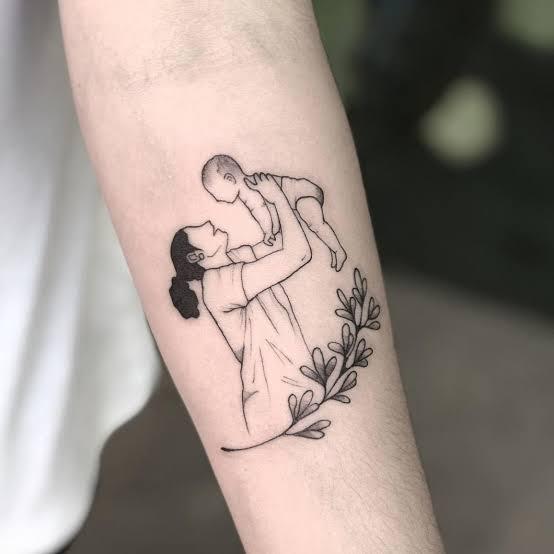 tatuagem para mãe na perna ideias