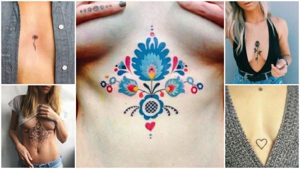 ideias tatuagens entre os seios
