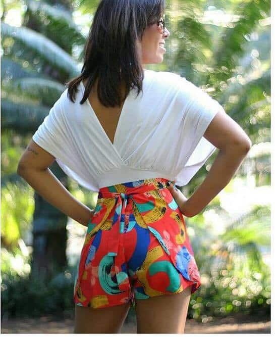 look com short envelope estampado