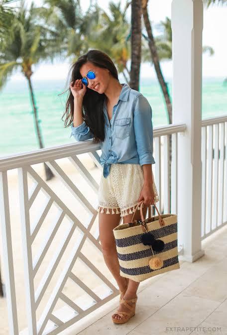 look com short para usar na praia