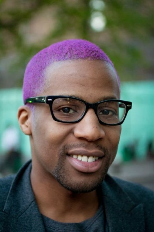 cabelo masculino roxo