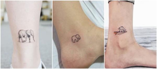 significado tatuagem delicada de elefante