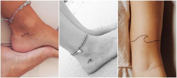 significado tatuagem delicada de onda