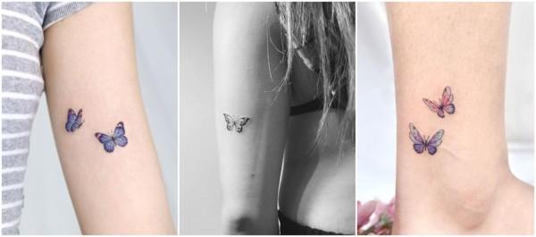 significado tatuagem delicada de borboleta