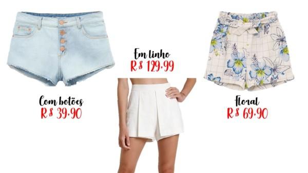 lojas para comprar shorts feminino