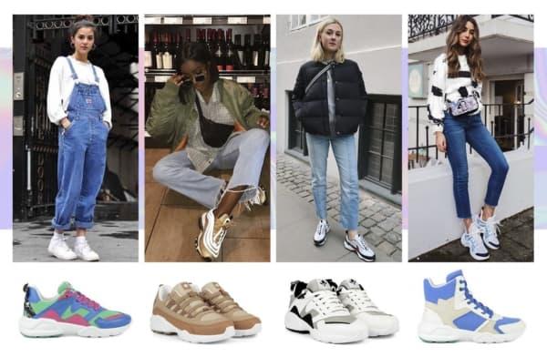 A moda dos tênis chunky