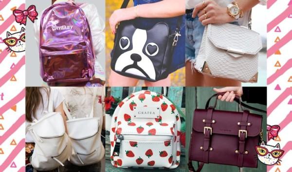 Bolsas e mochilas com estilo Tumblr para levar à escola