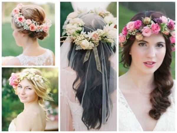 Grinalda de flores em casamento ao ar livre