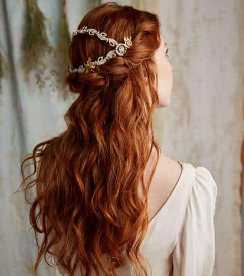 Grinalda para cabelo semi preso
