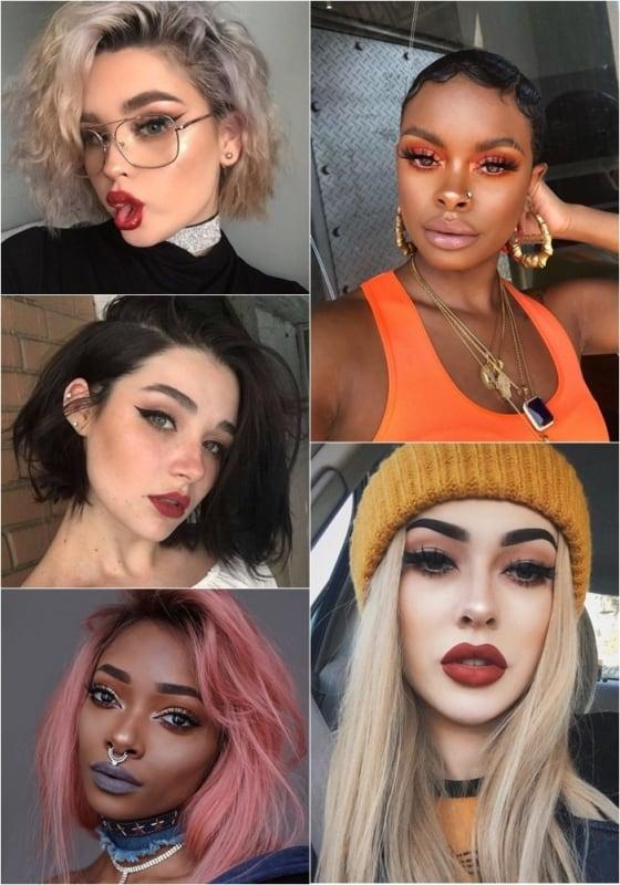 Ideias de maquiagem com estilo tumblr