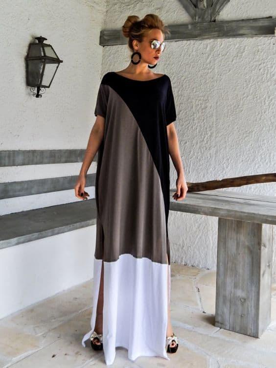Modelos de vestidos longos casual