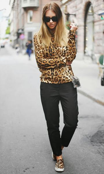 Look completo animal print