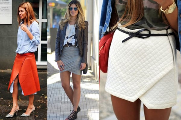Looks com saia envelope
