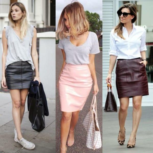 Looks despojados usando modelos de saias sociais