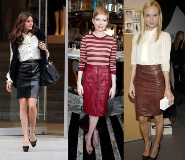 Modelos de saias de couro