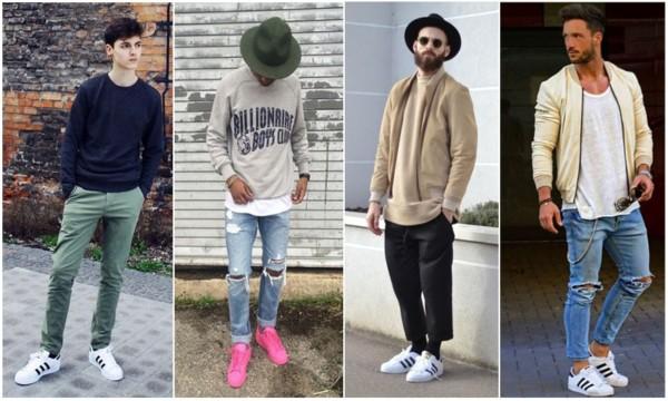 Looks masculinos com adidas