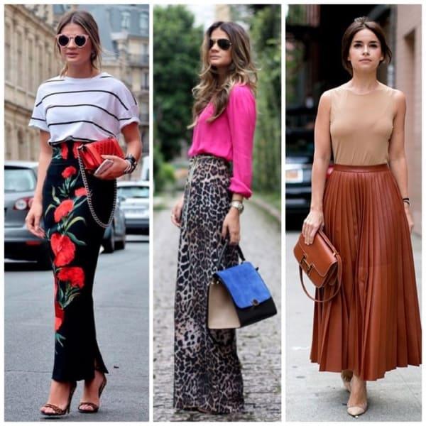 Looks super elegantes com saias longas