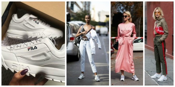 O tênis chunky sneakers branco está super na moda