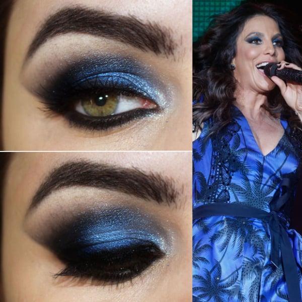 Olhos com sombra azul para madrinha