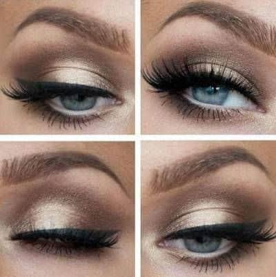 Olhos metalizados para usar à noite