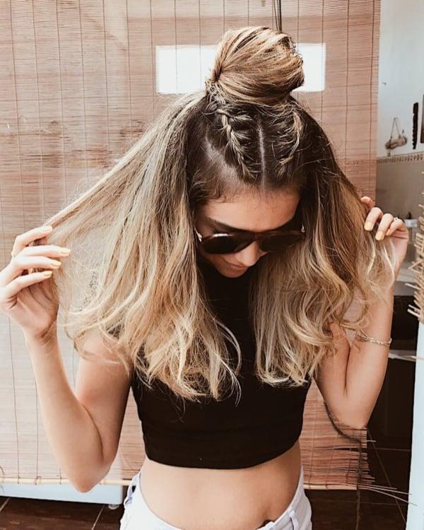 Penteado diferente Tumblr