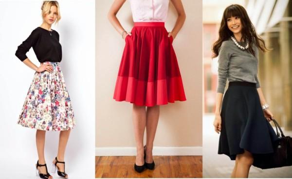 Modelos de saias godê de variados estilos