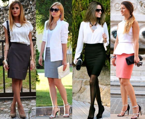 Modelos de saias sociais para usar no trabalho