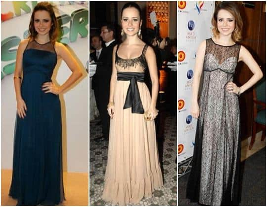 Modelos de vestidos longos da Sandy