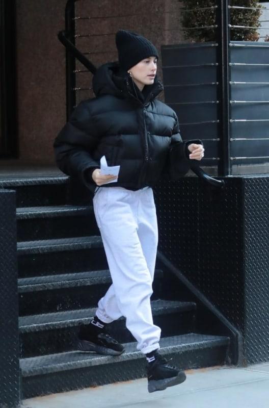 Chunky sneaker preto para usar no frio