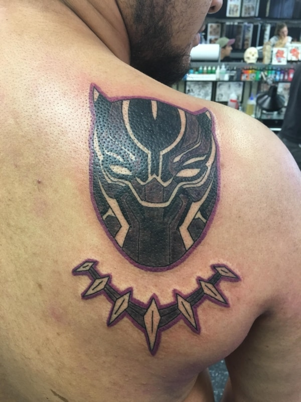 Tatuagem Pantera negra da Marvel