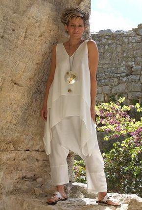 blusas para idosas longa branca