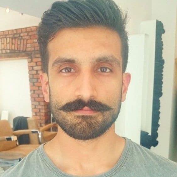 estilo de bigode handlebar