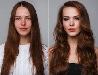 mudança de cabelo liso para cacheado