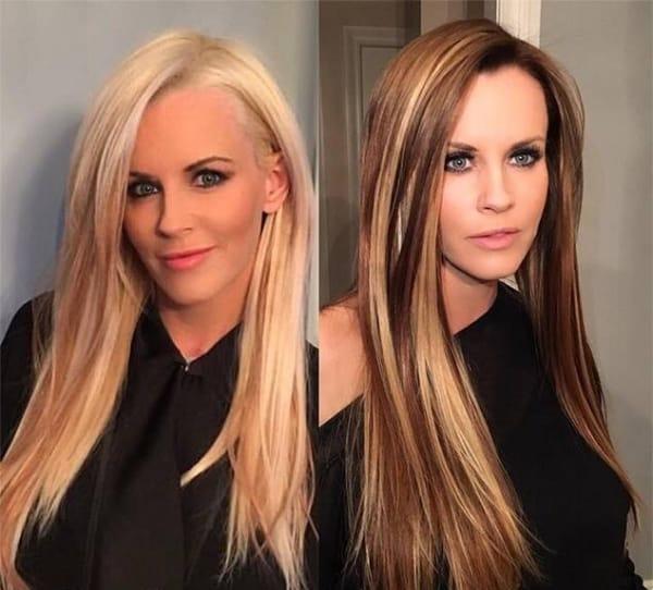 mudança no cabelo com luzes