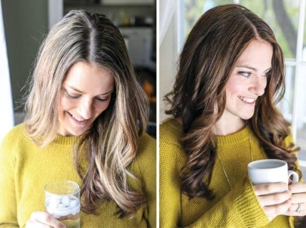 mudança no cabelo com tintura
