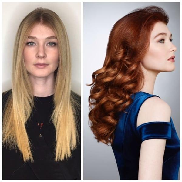 mudança no cabelo ruiva