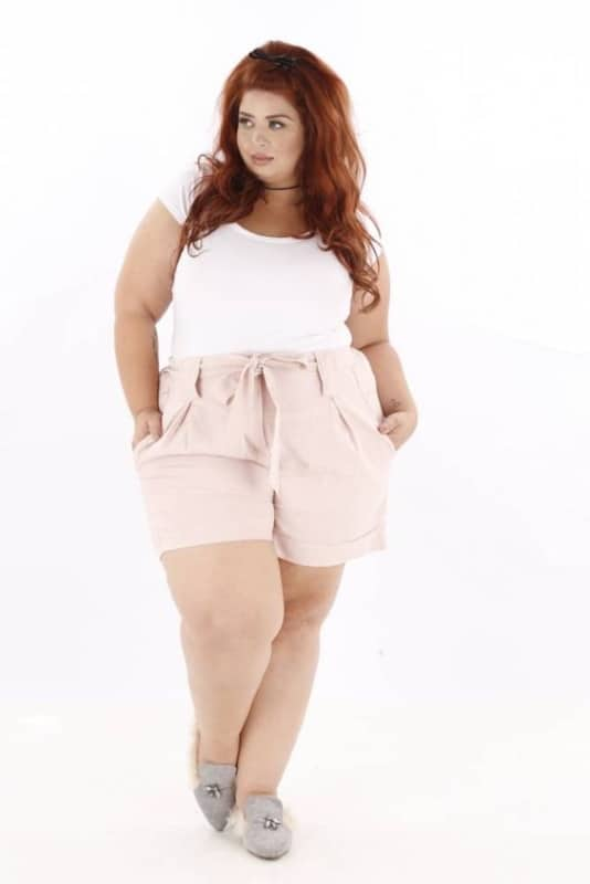 short clochard plus size rosê