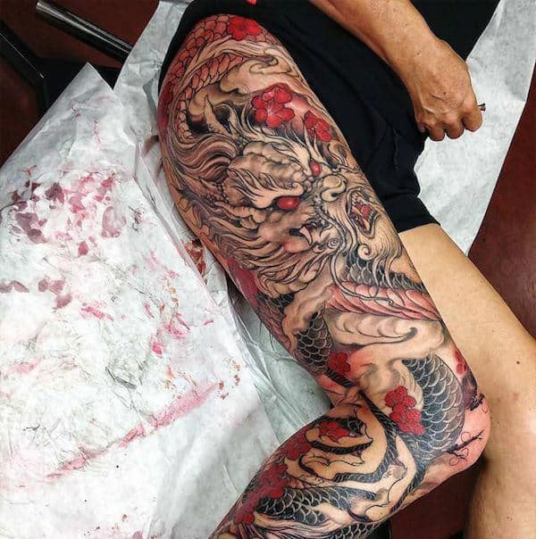 tatuagem na coxa masculina fechada dicas