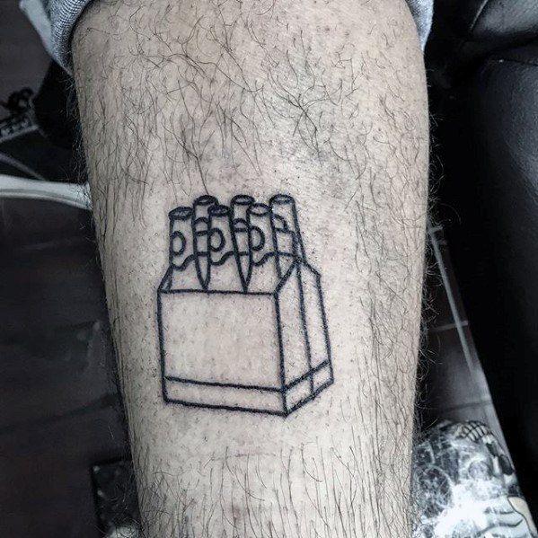 tatuagem na coxa masculina simples e pequena