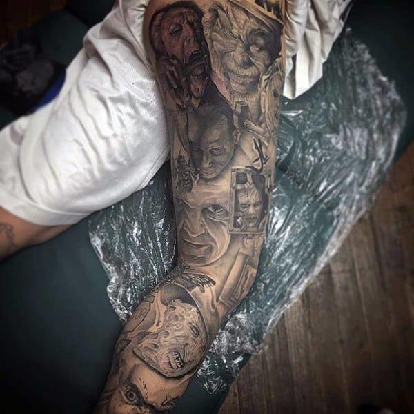 tatuagem na coxa masculina sombreada ideias