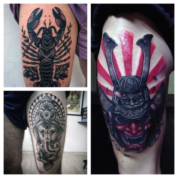 tatuagem na coxa masculina