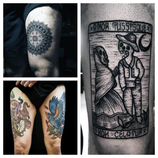 tatuagem na coxa para homens