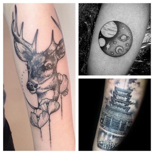 tatuagem sombreada simples